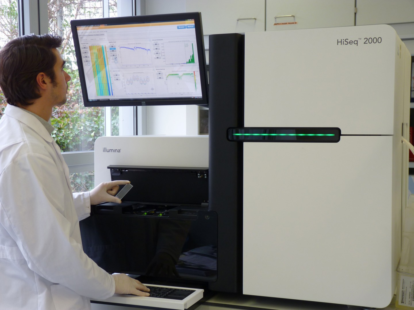Illumina high-throughput sequencing platform.